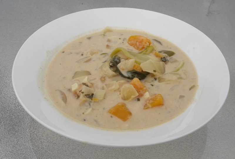 squash and coconut soup recipe