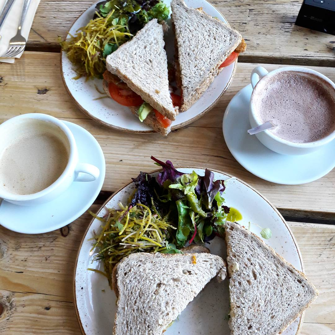 Lunch in The Green Rocket Cafe