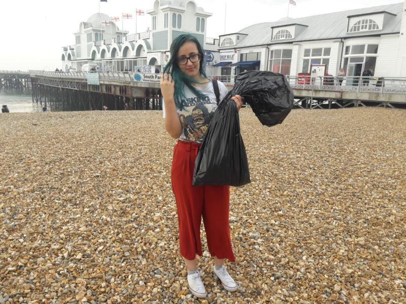 earth day beach clean