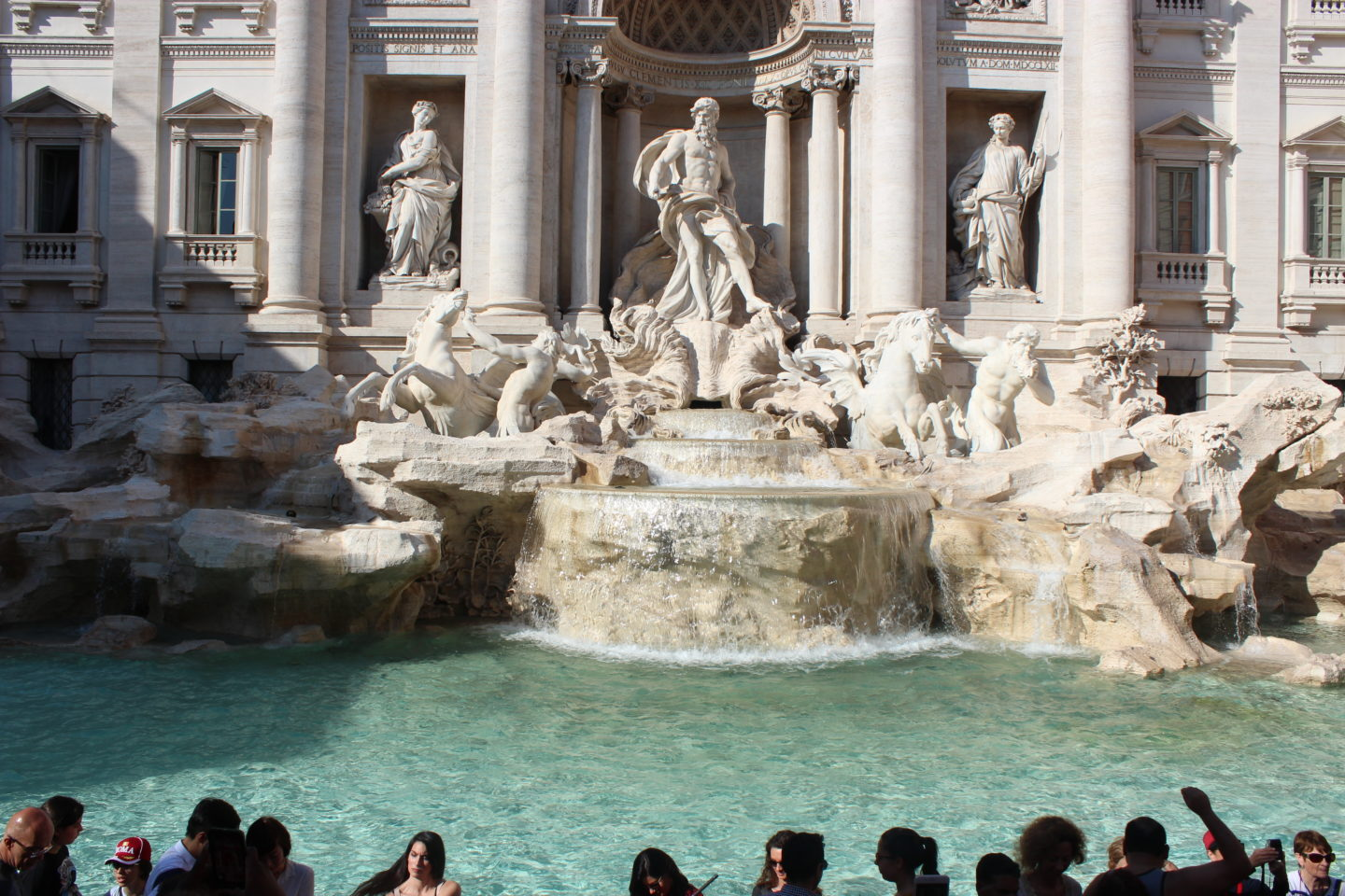 trevi fountain, rome, travel
